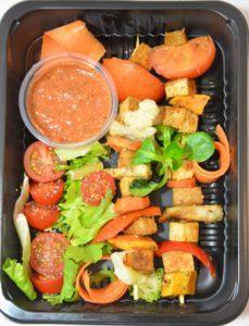 przekąska w diecie wegetariańskiej - Szaszłyk z tofu i warzyw