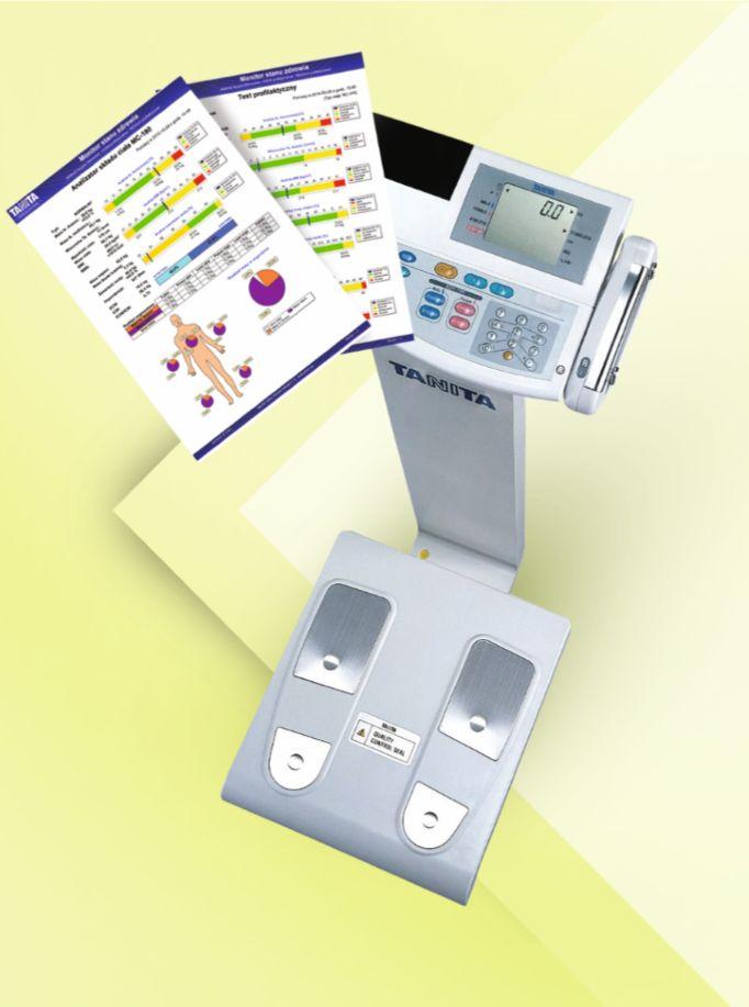 Przeprowadzamy pomiary składu ciała za pomocą profesjonalnej wagi - analizatora segmentowego składu ciała - Tanita BC-418 MA